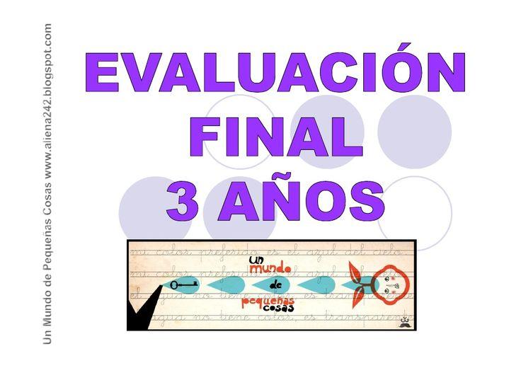 Evaluación Final 3 años