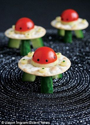 Get kids to make their own funky food with veggies and fruit