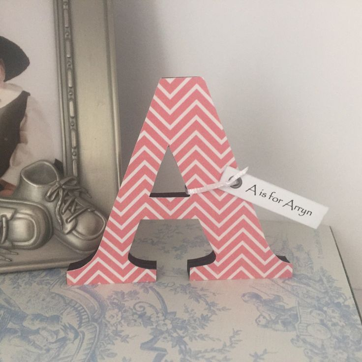 The perfect small gift for a new baby! https://www.etsy.com/listing/458067332/small-wooden-letters-wooden-initials