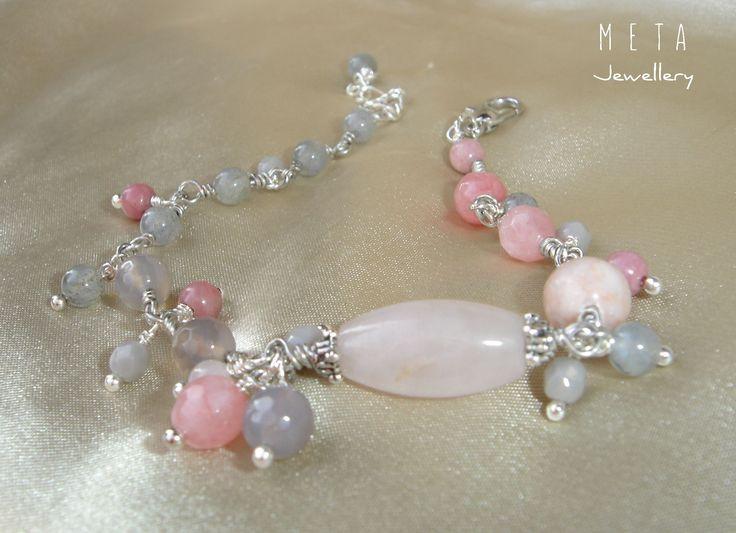 Gray / rose - szürke-rózsaszín ásvány karkötő http://www.meska.hu/t1624695-gray-rose-szurkerozsaszin-asvany-karkoto