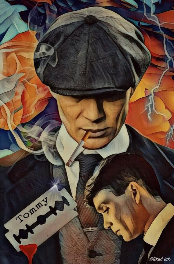 Toile Canvas Tommy Shelby Peaky Blinders Canvas Art Print, 1.5 Pouces