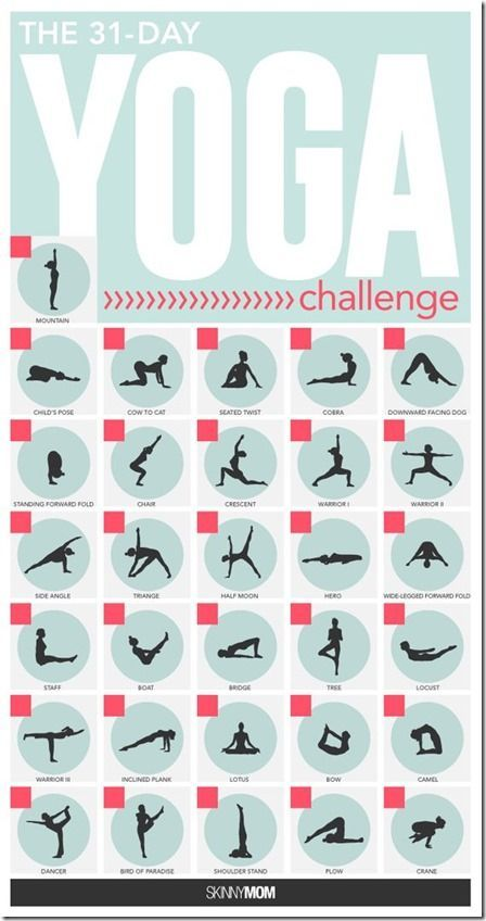 30 Day Yoga Challenge - Run Eat Repeat                                                                                                                                                                                 More