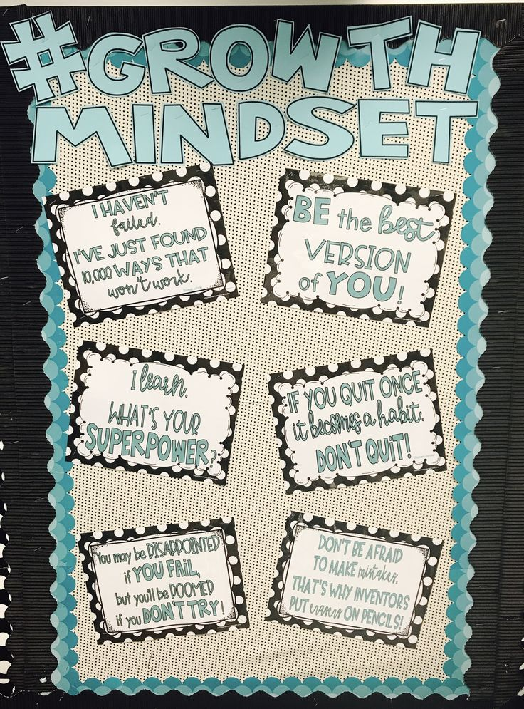 Growth Mindset posters not only encourage your students, but make for a great bulletin board display too!