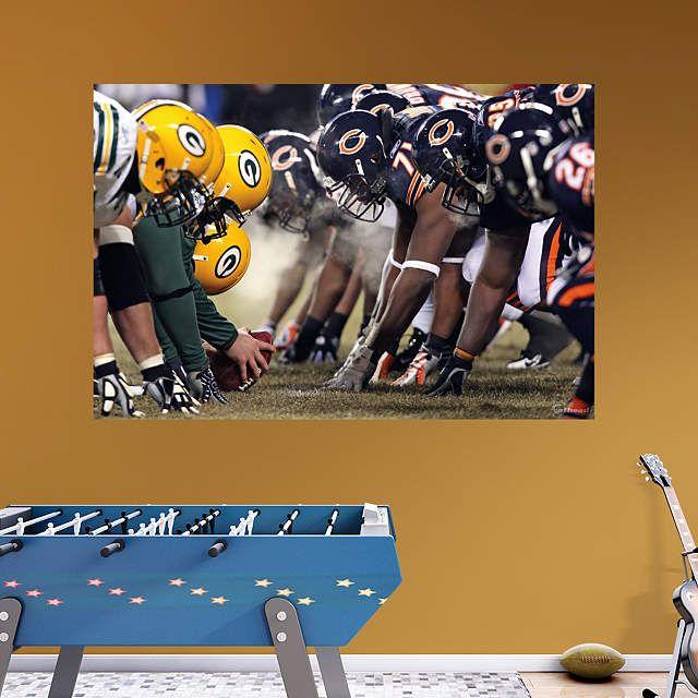 Bears-Packers Line of Scrimmage Mural