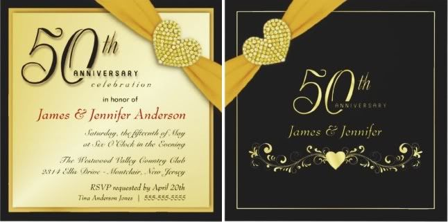 50th Wedding Invitation Templates: Quotes For 50th Anniversary Invitations