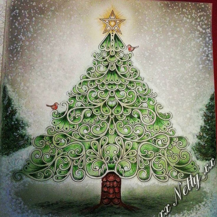 Tree Shading And Blending Gorgeous Johannabasford Johannaschristmas Johanna BasfordAdult ColoringColoring
