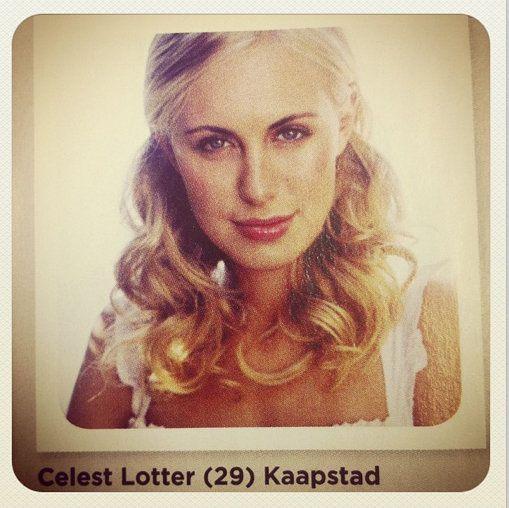 Ons 9de finalis in die top-36 van SARIE se Voorbladgesig van die Jaar-wedstryd is Celest Lotter (29) van Kaapstad.