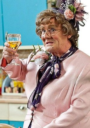 Brendan O'Carroll as Agnes Brown in Mrs Brown's Boys.  Hysterical show!  Love it.
