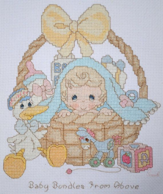 Precious Moments  Baby Bundle from Above  FINISHED by mylilsmidget, $25.00