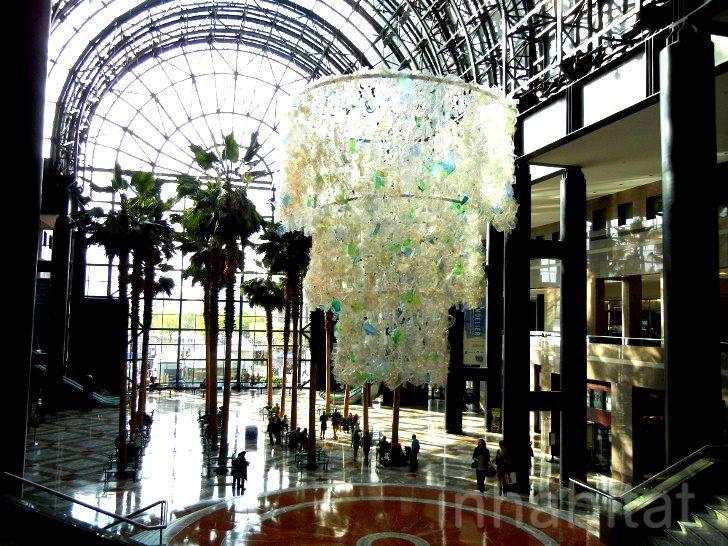 "Photos: Katharine Harvey's Glittering Plastic ""Chandelier"" is ..."