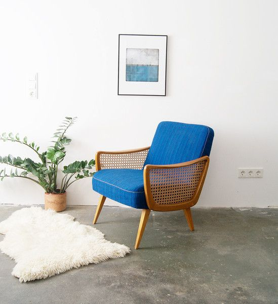 60er Sessel Casala   Armlehnsessel Blau 50er