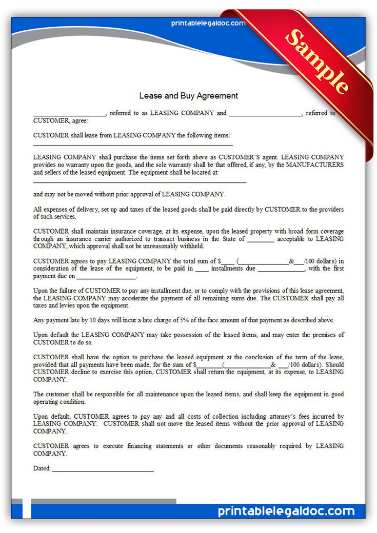 Lease To Buy Agreement Template Free Property Rental Agreement And