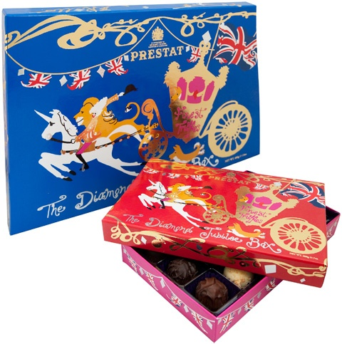 Prestat Chocolates - The Diamond Jubilee Box. So perfect for the Jubilee.