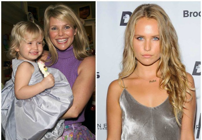 Sailor Cook    The 18-year-old beauty is basically her mother's lookalike. Sailor Brinkley Cook is the daughter of former supermodel Christie Brinkley and Peter Cook and is now a freshman at Parsons School of Design in New York City. Cook is greatly active on social media.