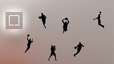 6 x #basketball players vinyl wall art sticker children #bedroom #sport #sports,  View more on the LINK: 	http://www.zeppy.io/product/gb/2/121444911577/