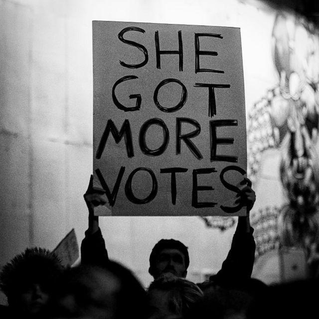 She got 2 million more votes & still lost! What the fuck!!