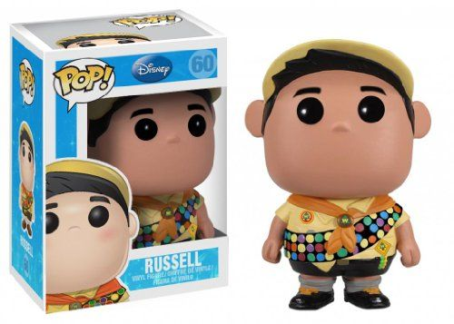 Get your final Wilderness Explorers merit badge with Russell from Disney Pixar's Up. This Up Russell Disney Pixar Pop. Vinyl Figure features the energetic curious and pudgy little boy rendered in the...