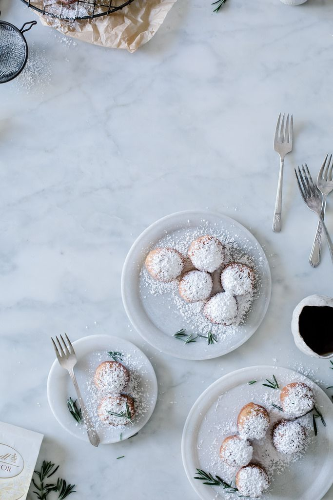 Local Milk | rosemary & LINDOR white chocolate truffle filled beignets