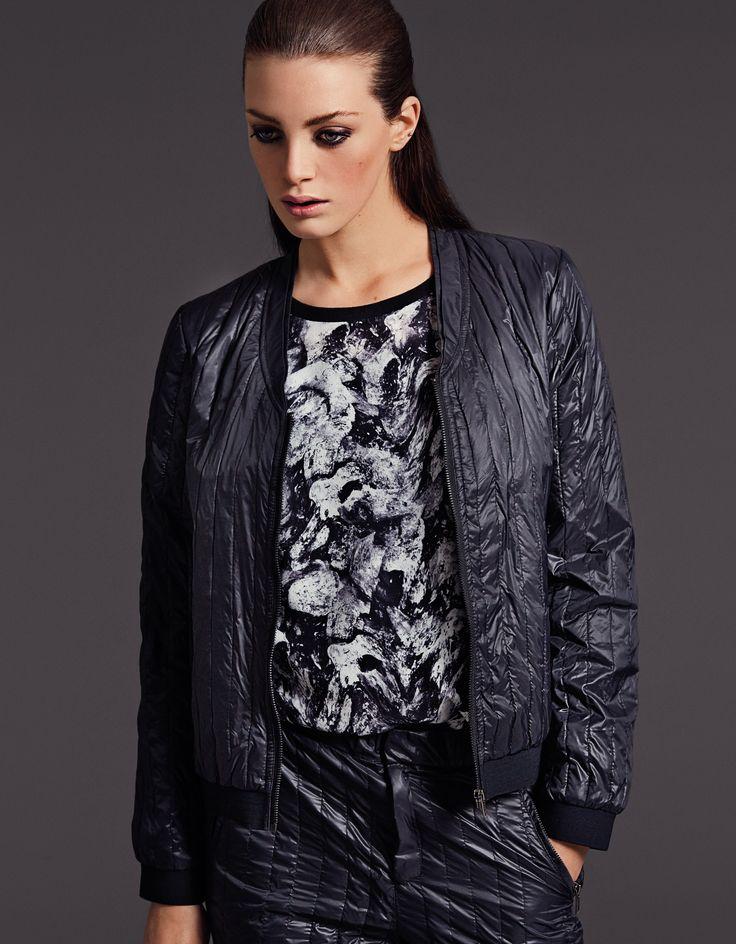 select femme bomber jacket top selected femme a w 2013 lookbook pinterest jackets tops. Black Bedroom Furniture Sets. Home Design Ideas