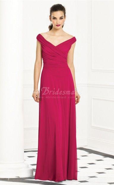 Vestido de noche fuchsia berries