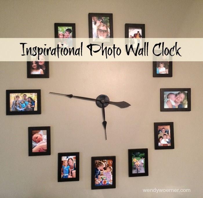 Decorative Wall Clock Instructions : Best ideas about photo wall clocks on