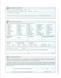 The 25 best massage intake forms ideas on pinterest massage free printable massage intake forms intake form pronofoot35fo Image collections