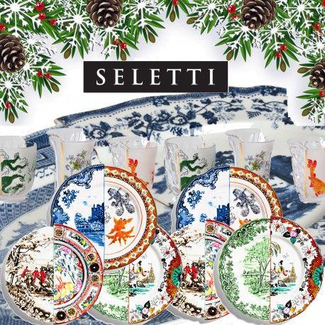 Arreda la tua tavola di Natale con Seletti Hybrid un'idea regalo originale e creativa composta da: 2 Piatto Piano Isaura, 2 Piatto Piano Ipazia, 2 Piatto Piano Eusapia, 2 Set 3 Bicchieri Aglaura e 1 Vassoio Diomira. http://www.homeproject012.it/it/pacchi-kit-idee-regalo-seletti/297-idea-regalo-seletti-hybrid-9.html