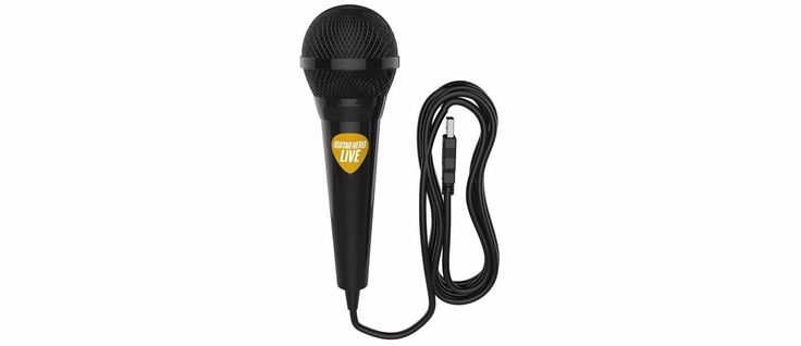 POWER A Guitar Hero Live Wired 15ft USB Microphone Works with Wii U PS4 Xbox One