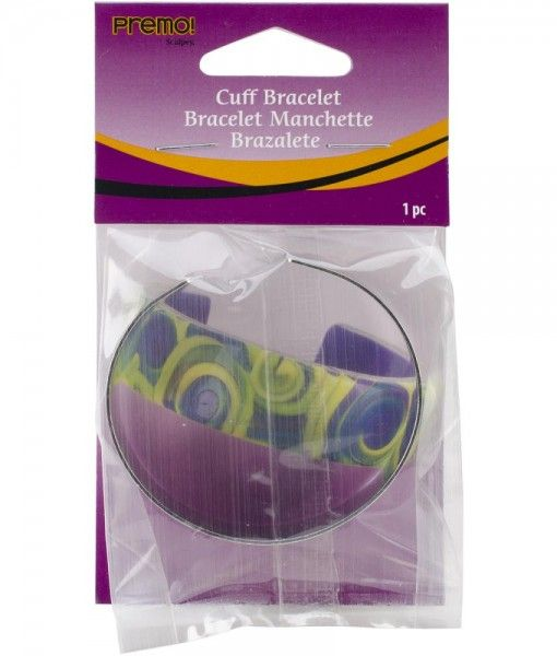 Polyform – Premo Cuff Bracelet. A uniquely designed bracelet is a reusable form to create endless cuff bracelets or if desired clay can be adhered to cuff as a finished jewelry piece. This package contains one 57mm (2-1/4 in) round cuff bracelet. Buy Online from 2wards Polymer Clay