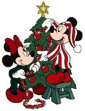 CHRISTMAS MICKEY MOUSE AND MINNIE MOUSE GIF