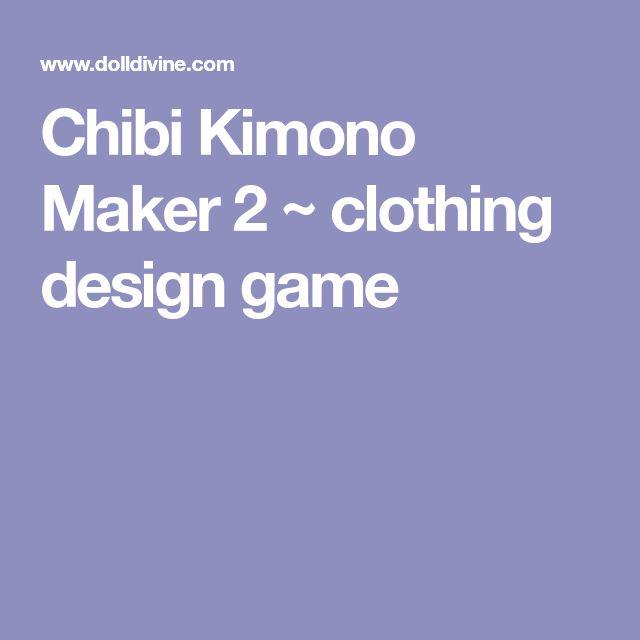 Chibi Kimono Maker 2 ~ clothing design game