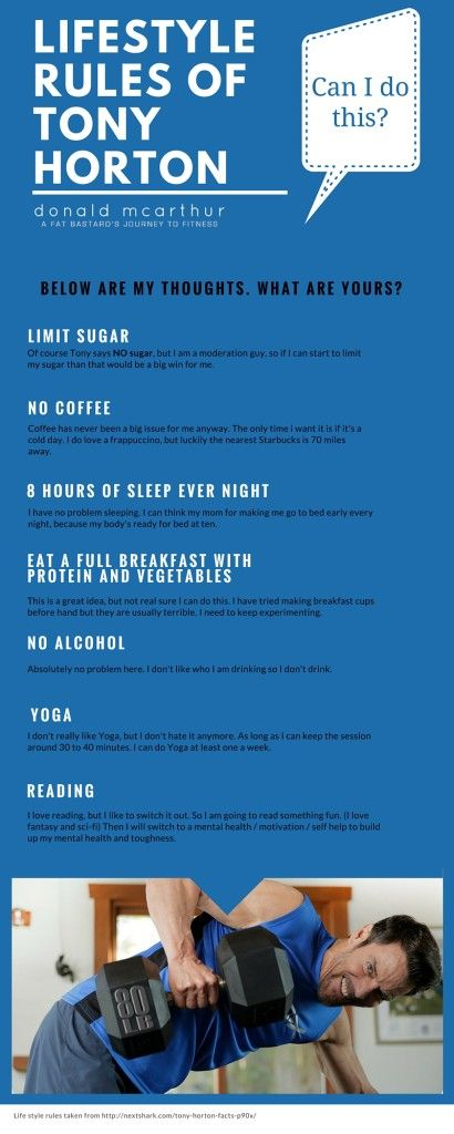 Lifestyle Rules of Tony Horton