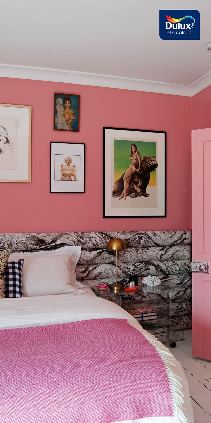 Dusty pink is the new black in Bianca's bright new bedroom.