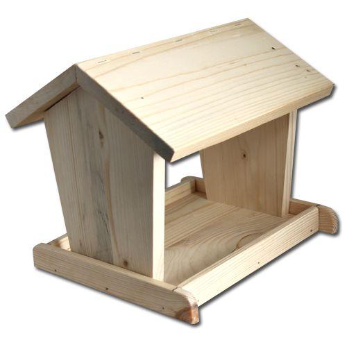 Dřevěná ptačí budka krmítko pro ptáky
