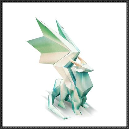 Spyro the Dragon - Crystal Dragon Statue Free Papercraft Download - http://www.papercraftsquare.com/spyro-dragon-crystal-dragon-statue-free-papercraft-download.html