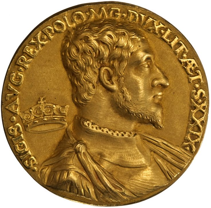 Medal of Sigismund II Augustus on the occasion of birthday anniversary and coronation (reverse) by Dominicus Venetus, 1548, Ossolineum