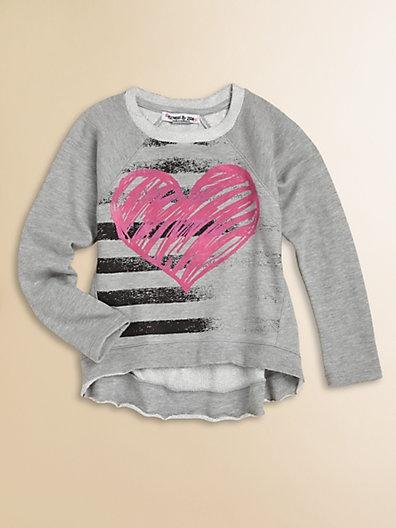 Flowers by Zoe - Girl's Heart Sweatshirt - Saks.com