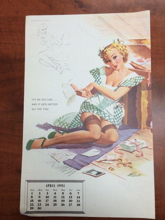Pin Up Calendar Vintage : Best images about vintage calendars on pinterest