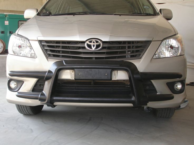 GoldSun Auto (P) Ltd., - Manufacturers of Quality Auto Accessories. At GoldSun, we manufacture various range of car accessories like FRONT BUMPER, REAR BUMPER, NUDGE GUARDS, SIDE FOOT STEPS, for TOYOTA INNOVA cars. Now make Your stylish car, Double Protected With GOLDSUN Car Accessories using ADORA FRONT BUMPER!