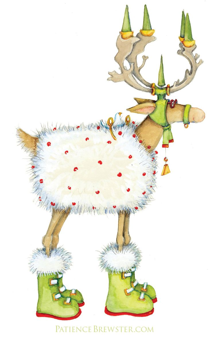 Blitzen is prepared for the North Pole climate!