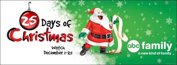 Woot it's time for the ABC Family's 25 Days of Christmas starting December 1.  Check out the lineup of shows!  #Entertainment #Christmas