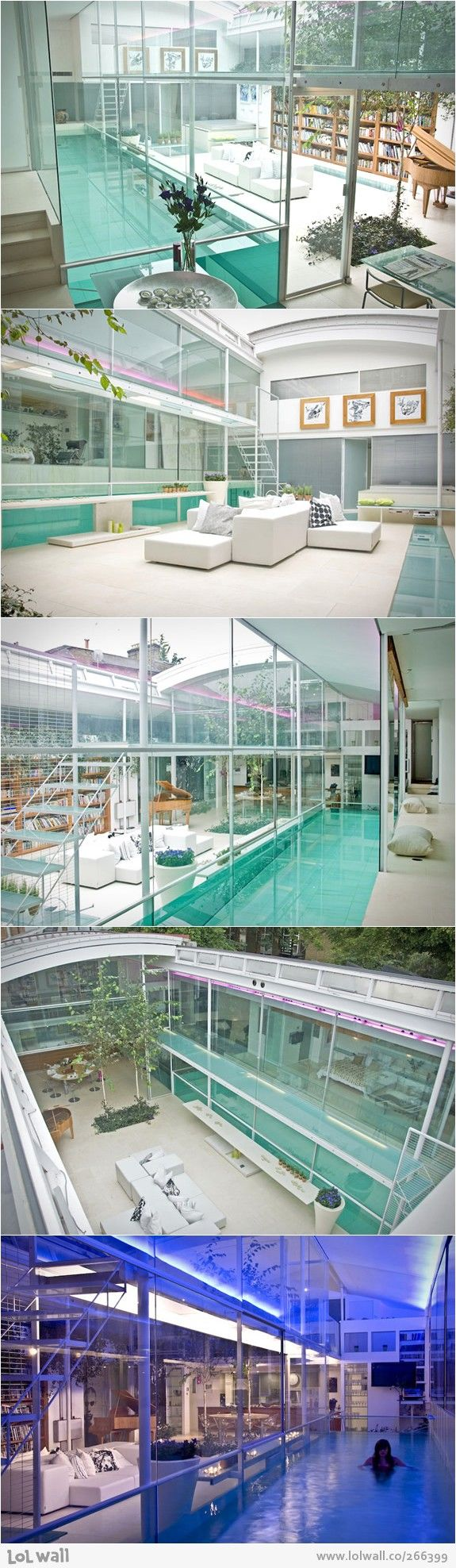 glass house wrap around pool crazy homes unique homes big houses