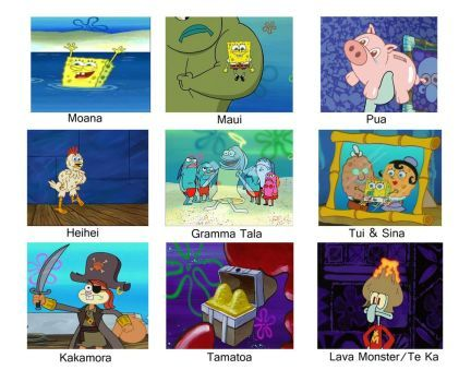 .:. Spongebob Meme Moana .:. by VelociPRATTor