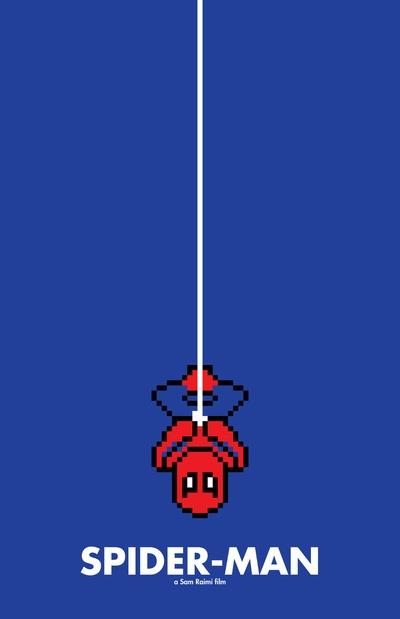 8 bit Movie Poster  Spider-Man