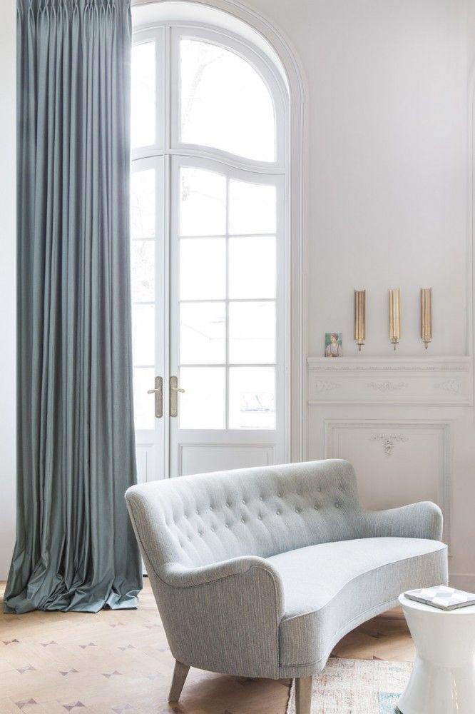 Copahome raamdecoratie. Marrakech overgordijn, gordijnen, raamdecoratie, grijs/ rideau rideaux, Maroc, atmosphere, intérieur, fenêtre, décoration de fenêtre, gris
