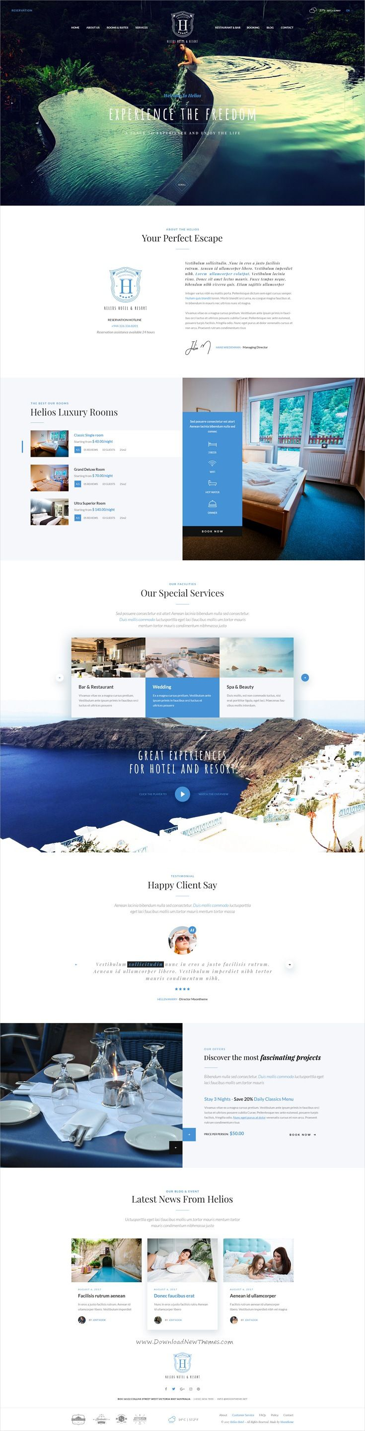 HELIOS   Multipurpose Hotel U0026 Resort PSD Template. Helios Is Clean And Modern  Design ...