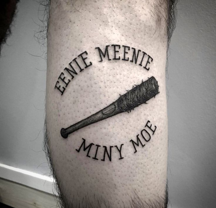 "The Walking Dead ""Lucille"" Negan tattoo"