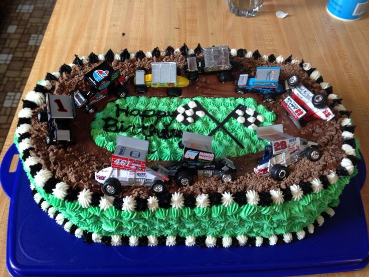Sprint car birthday cake