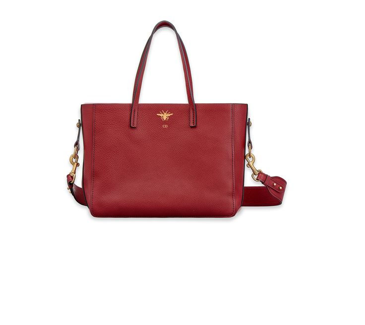 """d-bee"" shopping bag in red grained - Dior"