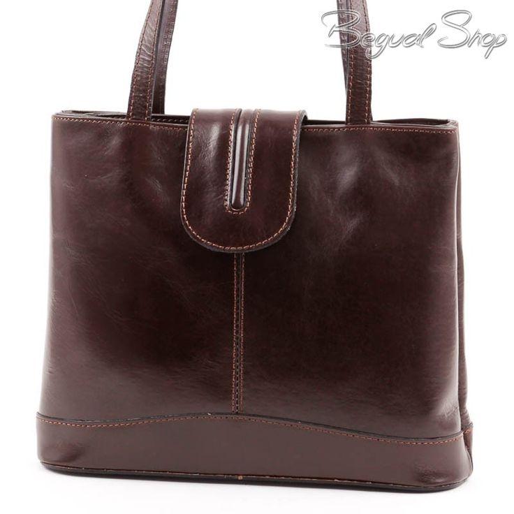 Barna olasz bőr női táska #3373
